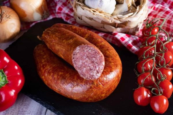 Zappendorfer Bauernknackwurst mit Knoblauch