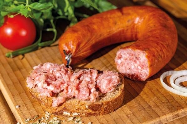 Zappendorfer Bauernknackwurst mit Kümmel