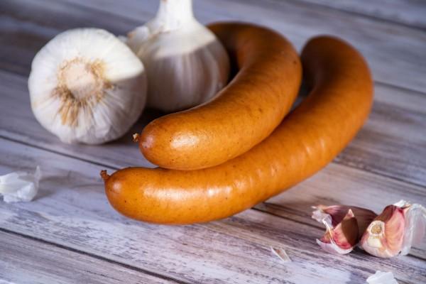 Zappendorfer Bockwurst mit Knoblauch
