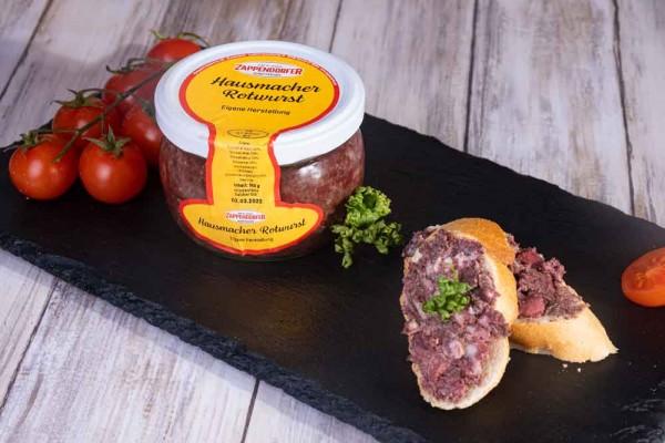Hausmacher Rotwurst im Glas